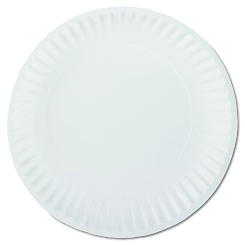 Uncoated Paper Plates (AJM Packaging PP9GREWH 9