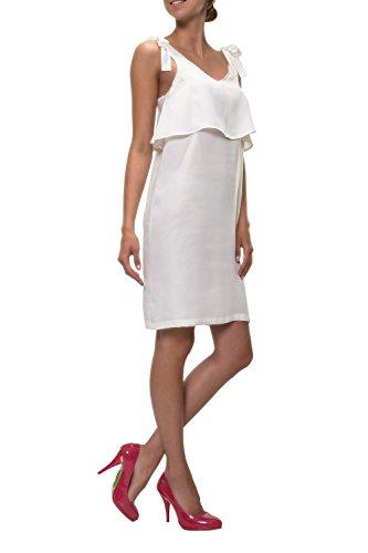 PIECES Damen Trägerkleid Layer-Look Sommerkleid Slip Dress Weiß