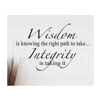 Amazon Quote It Wisdom Integrity Wall Quote Motivational Magnificent Quote It