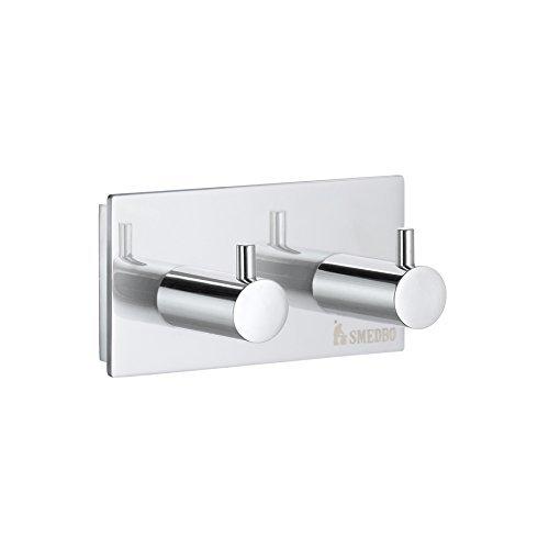 Smedbo SME ZK356 Towel Hook Double, Polished Chrome