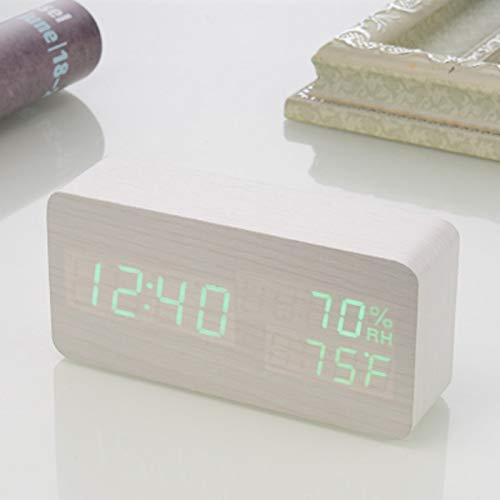 Amazon.com: Sound Control LED Alarm Clocks Wooden Despertador Temperature Display Alarm Clock Electronic Desk Clock Digital Wood Table Clock: Home Audio & ...