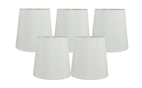 ggshell Faux Silk Clip On Chandelier Lamp Shades, 4-inch by 5-inch by 5-inch ()