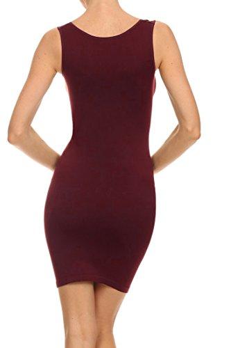Seamless Dress Burgundy Tank ICONOFLASH Women's pqwTUU