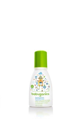 BabyGanics Foaming Dish and Bottle Soap, Fragrance Free, 3.38 Ounce (Babyganics Dish)