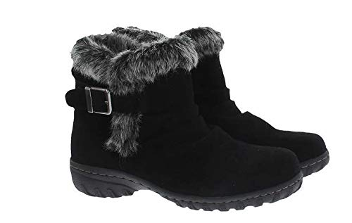 Khombu Women's All-Weather Lindsey Suede Boots (6, Black)