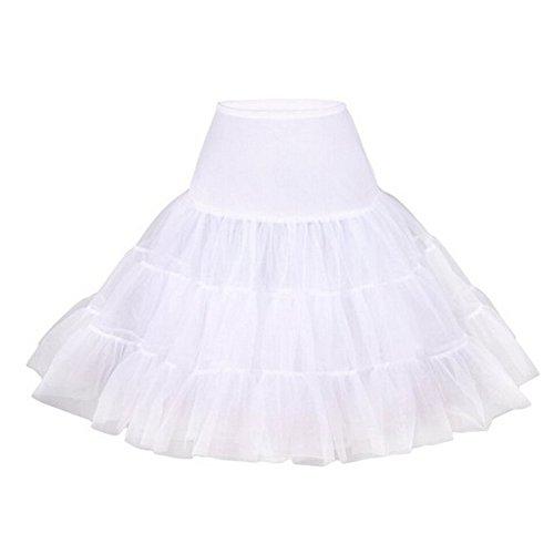 OCTOPUSIR Women's Underskirt 50s Petticoat Skirts Tutu Crinoline Net Voile Underskirts Dresses Half Slips]()