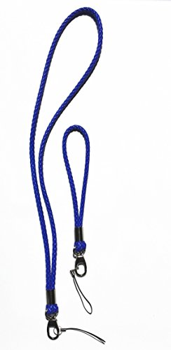 Handmade Braided Lanyards PU Leather Necklace Premium Quality Neck Lanyards keychain For Camera  Cell Phone ID Badge Holder (1 long and 1 short) -2 …