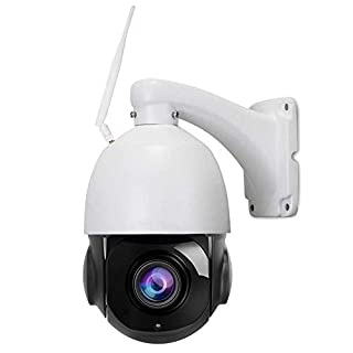 Outdoor 2.4G WiFi Wireless 4.5inch PTZ Security Camera 5MP HD Pan Tilt 30X Optical Zoom Two-Way Audio 200ft Night Vision IP66 Weatherproof SD Card Recording Motion Detection & E-Mail/Push AT-500PW20