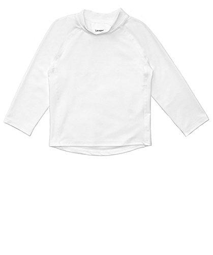 - Leveret Long Sleeve Baby Boys Girls Rash Guard Sun Protected UPF + 50 Kids & Toddler Swim Shirt (White, Size 5 Toddler)