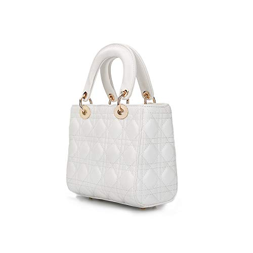 Olyphy Designer Shoulder Bag for Women Fashion Leather Top Handle Bag Purse Shoulder Handbag (white)