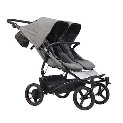 Mountain Buggy Duet Stroller with Satchel & Bag Clips- Herringbone ()