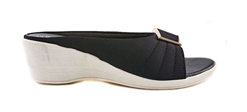 Dolphin Miles Women's Black Fashion Sandals