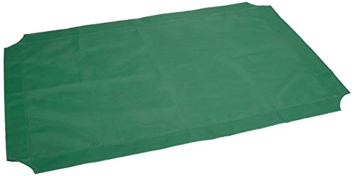 - AmazonBasics Elevated Cooling Pet Bed Replacement Cover, XL, Green