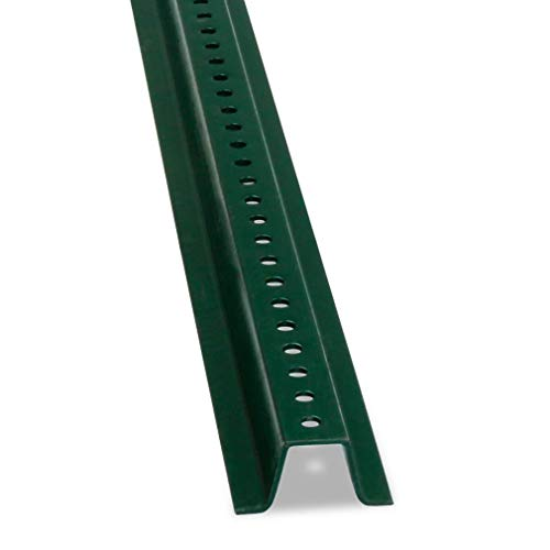 - U-Channel Sign Post by SmartSign, Heavy Weight | 8' Tall Baked Enamel Steel Post - Pack of 1