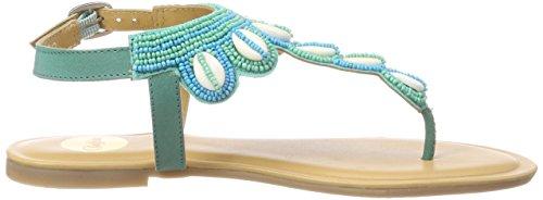 01 Leather 172145 Buffalo a Turchese turquoise Donna Infradito AUZwTq