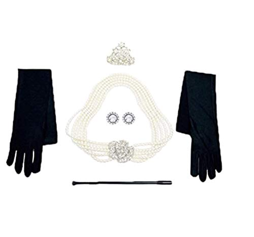 Utopiat Costume Jewelry and Accessory Set, Audrey Hepburn, Breakfast at Tiffany's (without gift box) -