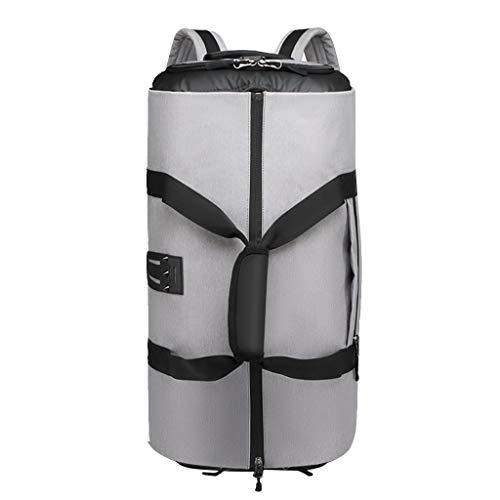 Ktyssp Multi-Layer Convertible Travel Bag Shoulder Luggage Bags Handbag Men Women (Gray)