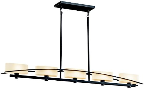 Kichler 42018BK Suspension Linear Chandelier 5-Light, Black