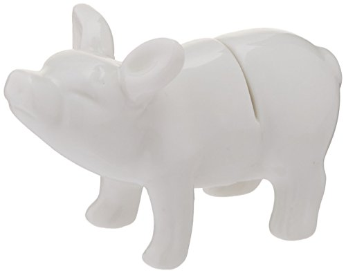 Ceramic Pig Name Card Holder with 12 Cards in Bag, 3-Inch, Set of 6