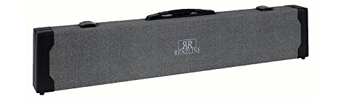 Renzline by Longoni Stella Collection Professional Carom Billiards 2x4 Pool Cue Case for 6 Compartments with Locks 2B4S in Grey/Black Color
