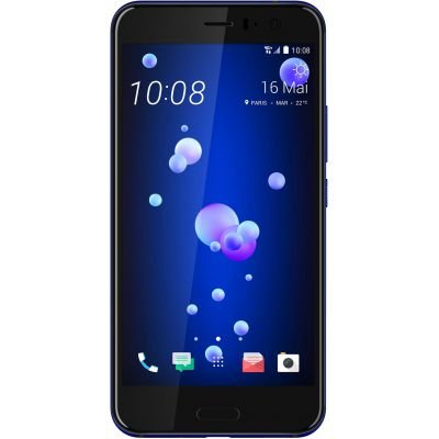 HTC U11 128GB Dual SIM Model - Factory Unlocked Phone - International Version - GSM ONLY, NO Warranty in The US (Sapphire Blue)