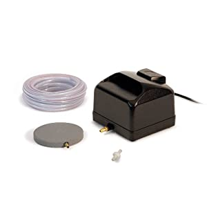 Atlantic Water Gardens Air Pump Kit for Ponds with Tubing and Stone, 1800 LPH