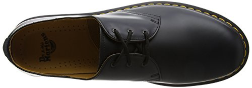 Dr. Martens 1461Z Smooth Cherry, Scarpe Basse Stringate Unisex - Adulto Nero (Black Smooth Z Welt)