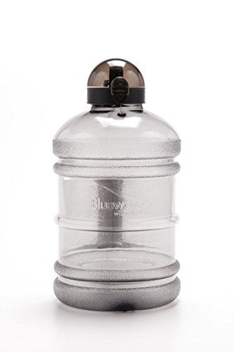 Bluewave Daily 8 Tritan BPA Free Water Jug - 1.9 Liter (64 oz) Graphite Grey (Gen2): The Original 8 Glasses a Day Healthy Diet, Gym Workout Bottle