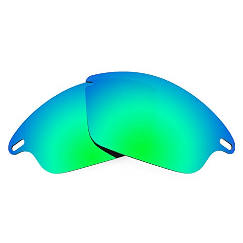 Revant Replacement Lenses for Oakley Fast Jacket Polarized Emerald Green MirrorShield