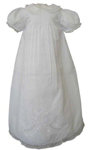 Feltman Brothers Infant Girls White Christening Baptism Gown -White-6M-9M by Feltman Brothers (Image #1)