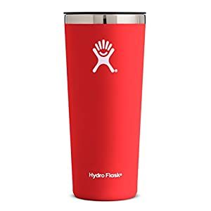 Hydro Flask 32 oz Double Wall Vacuum Insulated Stainless Steel Travel Tumbler Cup with BPA Free Press-In Lid, Lava