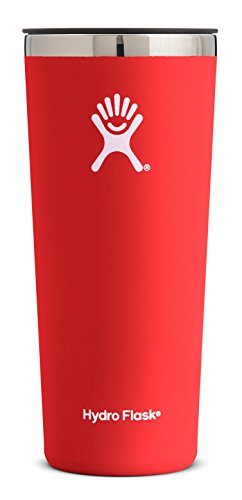 Hydro Flask 22 oz Double Wall Vacuum Insulated Stainless Steel Travel Tumbler Cup with BPA Free Press-In Lid, Lava