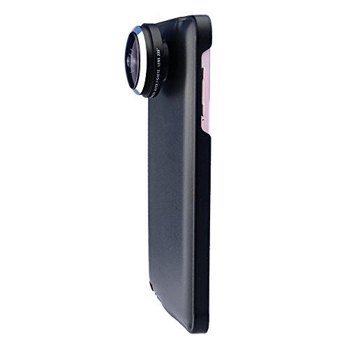 Apexel 235 Grad Super Fisheye/Fischaugenobjektiv mit Case/Schutzhülle, für Samsung Galaxy Note 4/N910