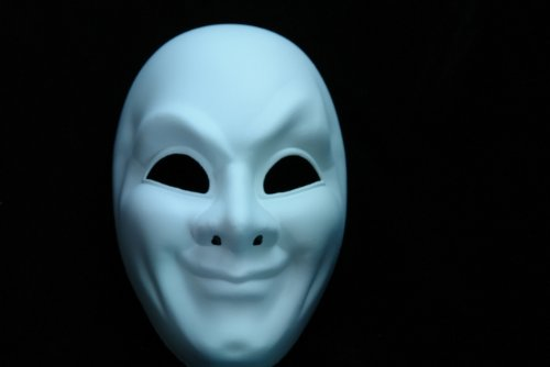 NEW Laser Cut Full Face Mold Halloween Mask - White -p55