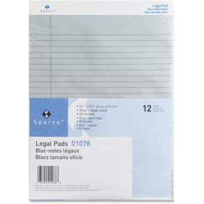 SPR01078 - Sparco Colored Legal Ruled Pads