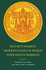 Security Market Imperfections in Worldwide Equity Markets (Publications of the Newton Institute) (2000-03-13)