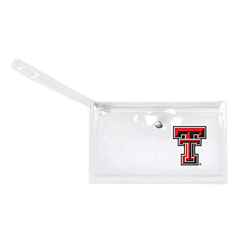 - NCAA Texas Tech Red Raiders Unisex Ncaancaa Ticket Wristlet, Clear, 9