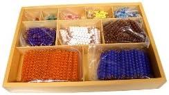 Montessori Caja con Bolas de Colores para Multiplicar Matemáticas: Amazon.es: Juguetes y juegos