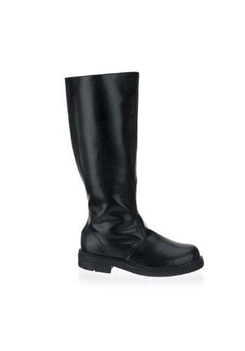 Captain Boots Men'S Size Shoe (Black Pu-Men's (Costume Boots Mens)