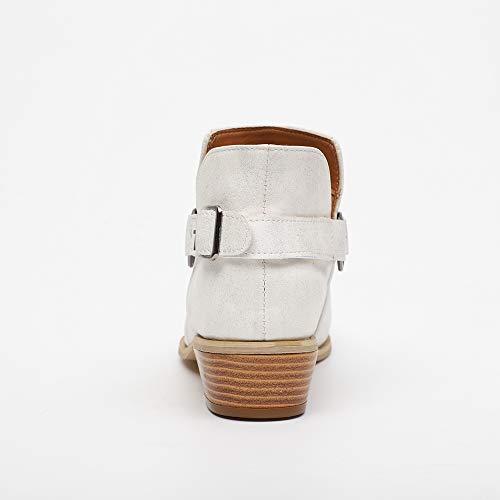 da bianco nbsp; modelli da scarpe stivale tacco Chelsea Girls popolari Toramo donna Classic stivaletti 3 taglia inverno basso UK WYAUwnTq