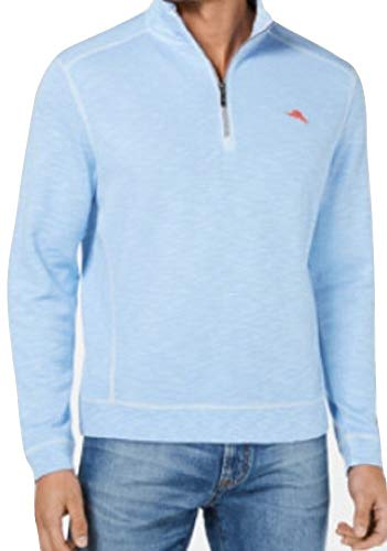 - Tommy Bahama Men's Tobago Bay Half Zip Pullover (Light Sky, Large)