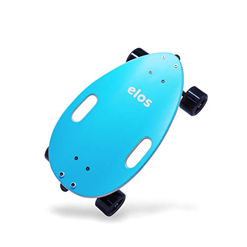 elos Skateboard Complete Lightweight- Mini Longboard Cruiser Skateboard Built for Beginners and Urban commuters. Stable Skateboard Deck. Non-Electric Personal Transporter. Campus Board. (Ocean Green)