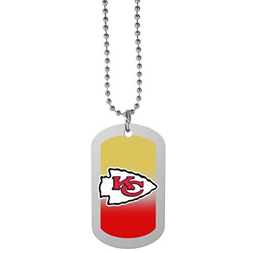 (NFL Kansas City Chiefs Team Tag Necklace, Steel,)
