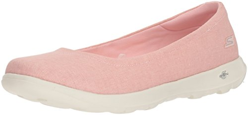 Skechers Performance Women's Go Walk Lite-15393 Ballet Flat,pink,9.5 M US
