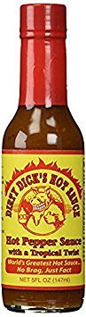 Dirty Dick's Hot Sauce - Hot Pepper Sauce with a Tropical Twist