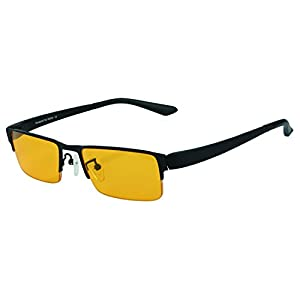 DUCO Optiks Computer Gaming Glasses Anti blue light 100% UV protection Amber Lens GX090 Yellow lens
