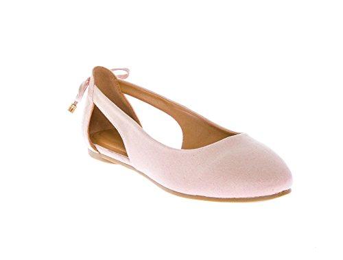 CALICO KIKI NOELLE-CK01 Women's Soft Suede Slip On Comfort Flat Shoes (7 US Blush SU)