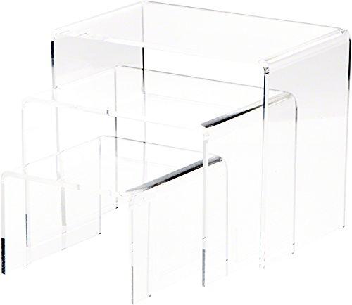 Plymor Brand Clear Acrylic Rectangular Risers, 6