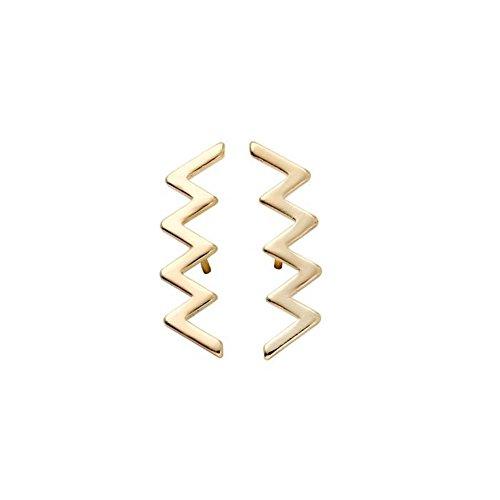 Wave Stud Earrings Geometric Minimalist