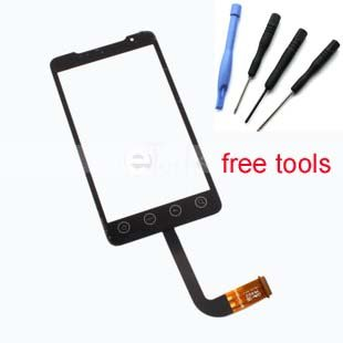 HTC Evo 4G A9292 ~ Black Touch Screen Glass Digitizer Replacement Lens Panel For HTC Evo 4G A9292 + tools